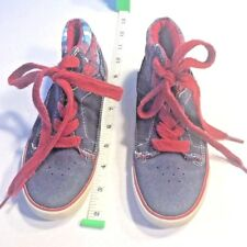 The Children's Place Boys High Tops Sneakers Blue Plaid Size 13 Boys Canvas