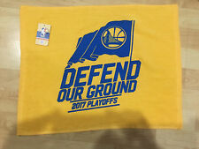 "Golden State Warriors Rally Towel 2017 PLAYOFFS-DEFEND OUR GROUND size 15"" x 18"""