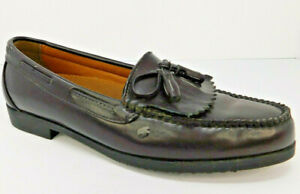 Chancellors Men's Casual Slip On Tassle Leather Loafer Shoes sz 10.5