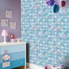 Mermazing Ice Blue Mermaid Scales Wallpaper with Glitter from Arthouse 698305