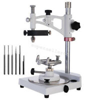 Dental Lab Ajustable Parallel Surveyor with Tools Spindles Handpiece Holder FDA