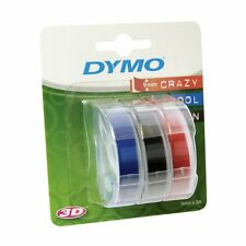 Dymo Embosser Tape 9mm - Assorted Colours - Pack of 3