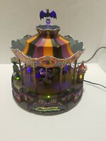 Halloween Spooky Town Scare - Ousel 2007 Lemax Carousel AS IS DOES NOT SPIN
