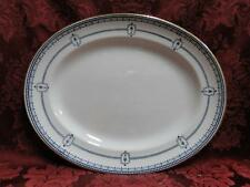 Royal Doulton Mina, Dark Blue Swags, Circles, Urns: Oval Serving Platter, 10.25""