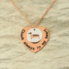 Dog Lover Gift dog charm Personalized Dachshund necklace Pet Memorial Gift