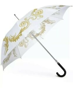 VERSACE MEDUSA Executive Limited Edition Ladies Large Umbrella White & Gold. New