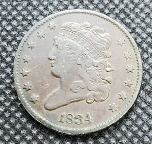 1834 Classic Head Half Cent | CHOICE FINE (FINE+ / F+)