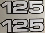 YAMAHA RD125 RS125 SIDE PANEL DECALS