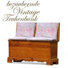 Truhe alte Sitztruhe Küchenbank Sitzbank * provinzielle Landhausstil Truhenbank