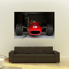 Poster of Ferrari 312 Giant Vintage F1 Race Car Huge Print 54x36 Inches