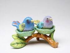61909 - APPLETREE DESIGN BIRD NEST SALT AND PEPPER & TEALIGHT HOLDER