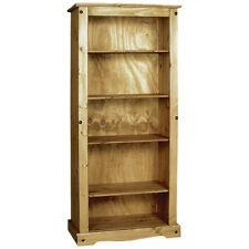 Solid Pine Wax Finish Bookcase Bookshelf Book Storage 4 Shelf Shelving Unit