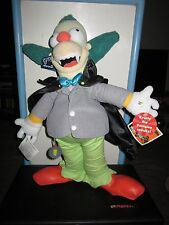 "THE SIMPSONS TALKING 18"" KRUSTY THE CLOWN  PLUSH TOY DOLL FIGURE BY APPLAUSE MWT"