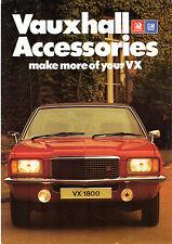 Vauxhall VX Serie ACCESSORI 1976-78 UK MARKET FOLDOUT SALES BROCHURE