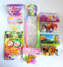Silly Bandz Bracelets Lot & Silicone Rainbow Necklace - Set of 7 Bags