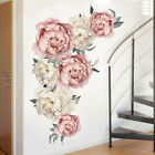 Large Peony Rose Flower Background Wall Stickers Art Decal Home Decor Uk