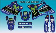 Yamaha YZ 85 Movistar Rossi style kit 2002 - 2014 FREE UK POSTAGE