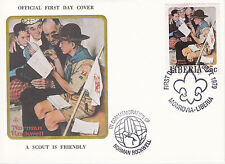 1979 Liberia Scouting / Norman Rockwell Commem.Fdc Cover - A Scout Is Friendly