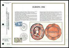 France CEF 1982 Europa cept sello Seal primero ETB etiquetas hoja z2181