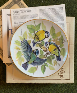 Blue Titmouse by Ursula Band WWF Plate Tirschenreuth Songbirds of Europe BOXED