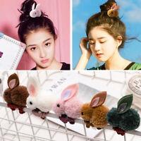 Women Girls Hair Tie Rope Pom Ball Rabbit Elastic Hairband Barrette Hair Fashion
