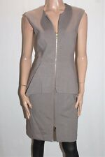 EVENTS Designer Mink Zip Thru Peplum Dress Size M BNWT #TD92