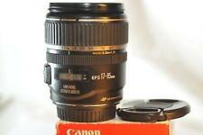 Canon EF-S 17-85mm f/4-5.6 USM IS lens for Digital EOS Rebel T7 T6 80D 70D 90D