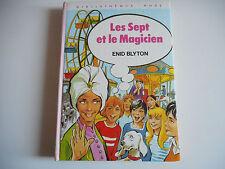 BIBLIOTHEQUE ROSE - LES SEPT ET LE MAGICIEN- ENID BLYTON 1977
