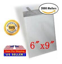 2000 6X9 White Poly Mailer Self Sealing Shipping Envelopes Bags - ST ShipMailers