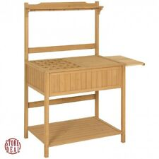 Potting Bench Outdoor Storage Garden Work Station Removable Table Versatile New