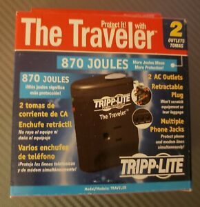 Tripp Lite Traveler Portable Surge Protector Laptop/Notebook/Phone  870  Joules
