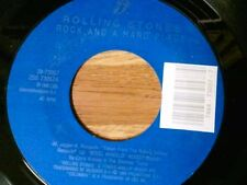 """THE ROLLING STONES 45 RPM """"Rock and a Hard Place"""" """"Cook Cook Blues"""" VG+ Cond."""