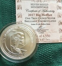 Slave Queen BU # 5 - 1 oz 2017 Big Mother BU 999 Silver Shield with COA Airtite