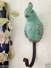BIRD Gancio Blu Uovo D'Anatra Retrò Esotico Pappagallo Shabby Chic Cappotto vintage chiave di archiviazione
