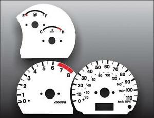 1999-2004 Geo Tracker 110 Mph Dash Cluster White Face Gauges 99-04