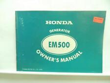 1979 Honda Portable Generator Owners Manual EM500 B2974