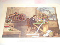 Vintage CURRIER & IVES Calendar Page Reprint from Litho March 1961 Travelers Ins