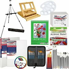 Art Supply 72 Pc Starter Kit Drawing Sketching Painting Canvas Brushes Easel