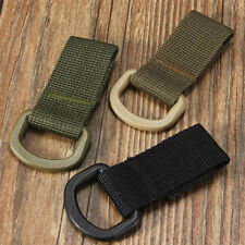1Pcs Nylon Tactical Molle Hanging Belt Carabiner Hook Webbing Buckle Black Hot