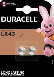 DURACELL LR43 Alcaline 1,5V - Blister Lot de 2 piles