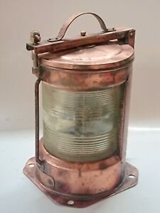 Maritime salvaged copper single stacked ship's running lights Vintage Passage