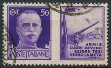 Italy 1942 SG#572, 50c Violet, Army Label Used #D8885
