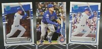 Nico Hoerner RC Rookie Lot x3 2020 Topps Series 1, Panini Optic & Donruss Cubs
