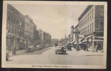 POSTCARD BRAMPTON CANADA BOYLES DRUG STORE & BUSINESS STORE FRONT 1930'S