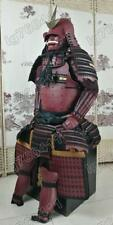 Iron & Silk Japanese wearable Rüstung Samurai Armor Helmet Mask Suit Red O10