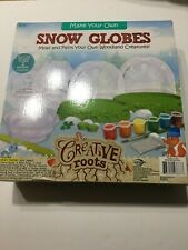 Creative Roots Make Your Own Snow Globes Mold And Paint Ages 6+ New In Box