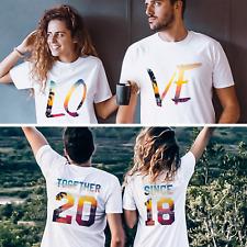 Honeymoon Shirts Cute Matching Couple Shirts Custom Together Since T-Shirts