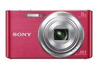 SONY DSC-W830 DSCW830 Digital Camera 20.1MP 8x Optical Zoom Videos HD 720p Wow