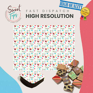 Chocolate Transfer Sheet (Party) Edible for Decorations A4 Size
