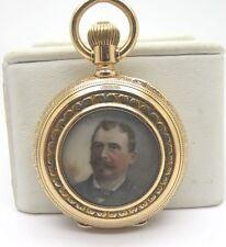 Gold Multi Color Portrait Pocket Watch Very Rare Antique Patek Philippe 18K